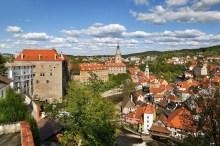 Schloss Český Krumlov - Die Stadt vom Schlossgarten aus, Foto: Archiv Vydavatelství MCU s.r.o.