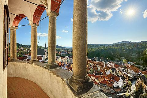 Pohled z ochozu zámeckévěže na Vnitřní Město, zdroj: Foto: Libor Sváček, archiv Vydavatelství MCU