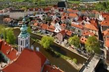 Zámek Český Krumlov - Pohled z věže na Vnitřní Město, foto: Archiv Vydavatelství MCU s.r.o.