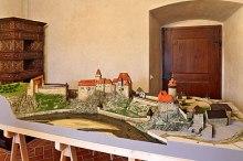 Schloss Český Krumlov - Burgmuseum - Modell des Burgareals, Foto: Archiv Vydavatelství MCU s.r.o.