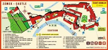 Český Krumlov Chateau - Map, photo by: Archiv Vydavatelství MCU s.r.o.