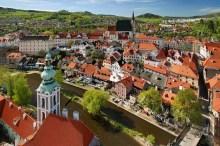 Český Krumlov - View to the town from the tower, photo by: Archiv Vydavatelství MCU s.r.o.
