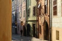 Český Krumlov - slohově pestré fasády v Panské ulici, foto: Archiv Vydavatelství MCU s.r.o.