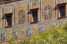 Český Krumlov - malovaná výzdoba Hrádku pochází z konce 16. století, foto: Archiv Vydavatelství MCU s.r.o.