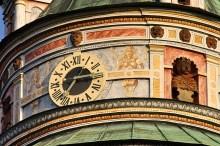 Hrad a zámek Český Krumlov - renesanční věž a detail výzdoby tamburu, foto: Archiv Vydavatelství MCU s.r.o.