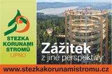Stezka korunami stromů Lipno je první a jediná v České republice.