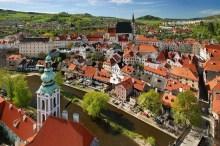 Český Krumlov - Aussicht vom Turm auf die Innenstadt, Foto: Archiv Vydavatelství MCU s.r.o.