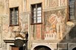 Český Krumlov - Vyobrazení sv. Floriána na renesanční fasádě, foto: Archiv Vydavatelství MCU s.r.o.