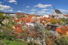 Český Krumlov - Záběr přes střechy domů v Rybářské ulici, foto: Archiv Vydavatelství MCU s.r.o.