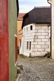 Český Krumlov - Die Renaissance drang auch in die ärmeren Stadtviertel (Rybářská-Straße) vor, Foto: Archiv Vydavatelství MCU s.r.o.