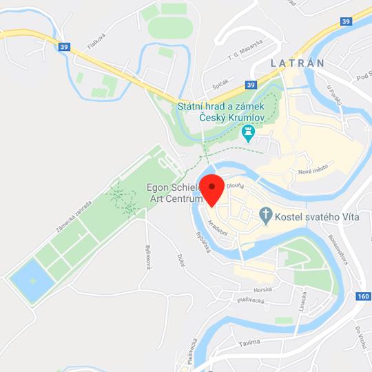 Egon Schiele Art Centrum, zdroj: Mapy Google